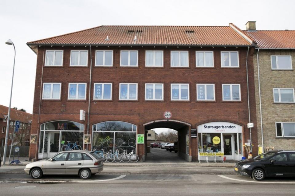 Indgangen til tandlægen i Hvidovre på Hvidovrevej